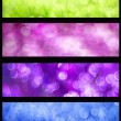 Colorful bokeh web banners set — Stock Photo #30568179