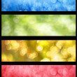 Colorful bokeh web banners set — Stock Photo