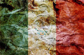 Grunge flag of mexico on dirty paper — Stock Photo