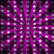 Purple sunbeams and stars grunge background — Stock Photo