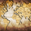 Stock Photo: Map of world with continents