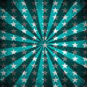Sfondo grunge raggi di sole e stelle blu — Foto Stock