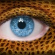 Lizard skin pattern on face — Stock Photo