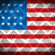 USA flag on metal plate — Stock Photo