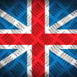 Metal place surface with the flag of the United Kingdom — Stock Photo