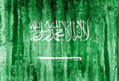 Grunge flag of saudi arabia — Stock Photo