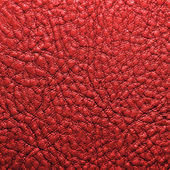 Red leather texture for background — Stock Photo