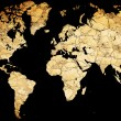 Map of the world with continents from dry deserted soil — Stock Photo