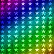 Rainbow background with stars — Stock Photo