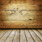 Gamla trä rum — Stockfoto