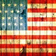 The USA flag painted on wooden pad — Stock Photo #30700651