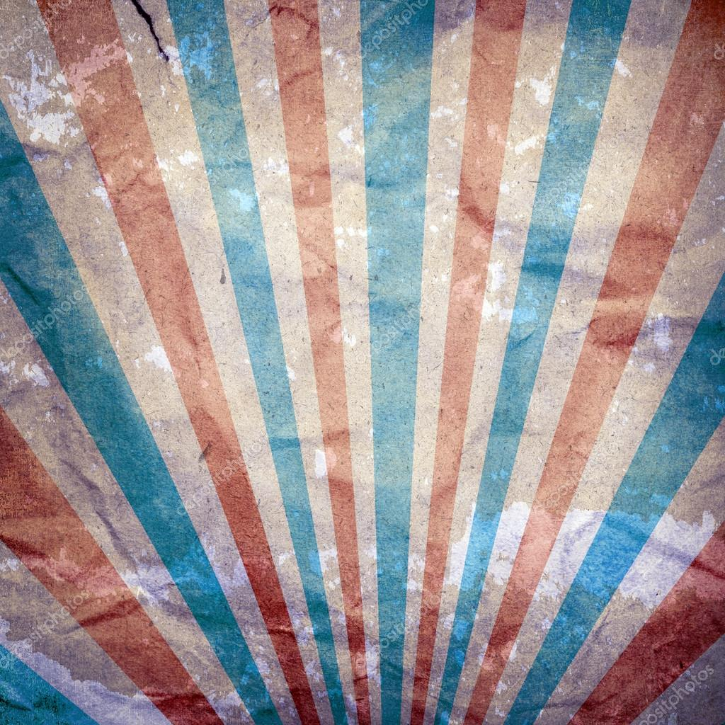 Blue, white and red stripes vintage background Stock Photo