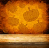Hallooween theme with empty table — Stock Photo