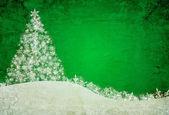 Green christmas background — Stock Photo