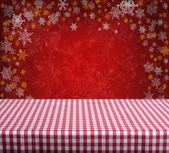 Boş kırmızı masa — Stok fotoğraf