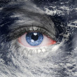 Stock Photo: Eye in middle of hurricane