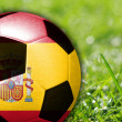 Soccer ball with flag on Spain — Stock Photo