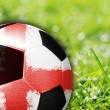 Soccer ball with flag of England — Stock Photo