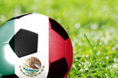 Fotboll med flagga Mexiko — Stockfoto