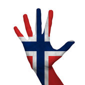 Norge flagga — Stockfoto