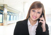 Pretty businesswoman — Stock Photo