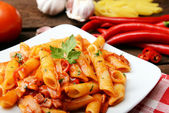 Arrabiata pasta — Stockfoto
