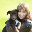 Woman with dog — Stock Photo #46306223