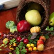 Cornucopia and the Bible - Stock Photo