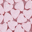 Candy hearts background - Stock Photo