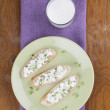 Cottage cheese canapes - Stock Photo