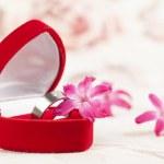 Titanium engagement ring — Stock Photo