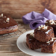 Stock Photo: Gingerbread cake with chocolate and hazelnuts
