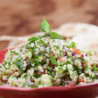 Stock Photo: Tabbouleh with pitbread