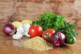 Tabbouleh ingredients — Stock Photo