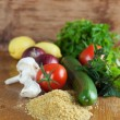 Stock Photo: Tabbouleh ingredients