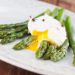 Asparagus with poached egg — Stock Photo #37095185