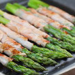 Grilled prosciutto wrapped asparagus — Stockfoto #37095299