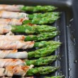 Grilled prosciutto wrapped asparagus — Stock Photo #37429419