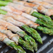Grilled prosciutto wrapped asparagus — Stockfoto