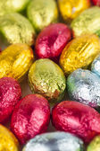 Chocolate eggs background — Stock Photo