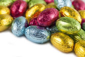 Chocolate eggs background — Stock fotografie