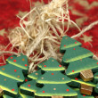 Wooden Christmas trees — Stock Photo #7424854