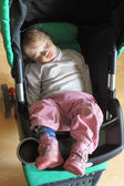Baby girl sleeping — Stock Photo