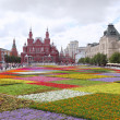Flowers parade on Red Square in Moscow — Stock Photo