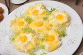 Fried eggs — Stock fotografie