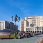 Постер, плакат: Four Seasons Hotel Moscow and State Duma building