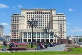Four Seasons Hotel Moscow building on Manezh Square in Moscow — Stock Photo