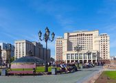 Four Seasons Hotel Moscow and State Duma building — Stock Photo