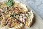 Fresh Vegetable Quiche — Stock Photo