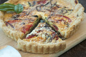 Fresh Vegetable Quiche — Stok fotoğraf